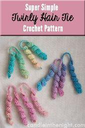 Super Easy Twirly Hair Tie Crochet Pattern –