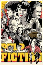 Pulp Fiction All Characters Poster