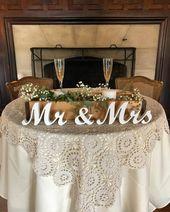 Herr und Frau Hochzeitsschilder Tischdekoration. Rustikale Hochzeit Centerpieces Hochzeitsempfang. Hochzeitsgeschenk, Hochzeits-Argagement, Verlobung