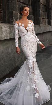 33 sjöjungfrubröllopsklänningar för bröllopsfest | Brudklänning Guide