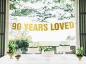 90th birthday – 90th birthday decorations – Gold banner – 90th birthday banner – 90th anniversary – party decoration – party banner – photo props – 90th birthday decor – Gram's 90th Birthday!