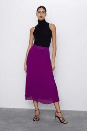 Pleated midi skirt  – Pants