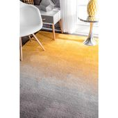 nuLOOM Ana Ombre Shag Yellow 8 ft. x 10 ft. Area Rug-HJOS01A-8010 – The Home Depot