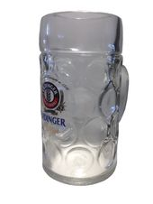 "Details about Erdinger – Bavarian / German Beer Glass 1.0 Liter Stein – ""Masskrug"" – NEW"