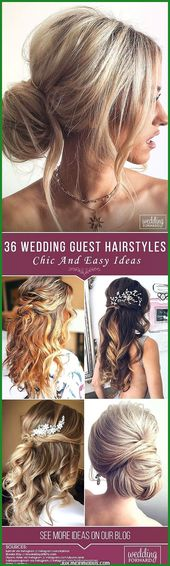 Great Elegant and Simple Wedding Guests – Wedding Hairstyles – # # Simple Hairstyles ….