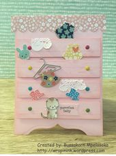 Baby Cards Baby dresser card, Stampin' Up! Made with Love, Owl punch, Spring Samplers