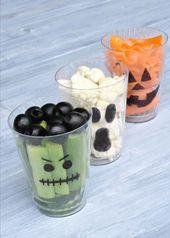 Halloween vegetable cups