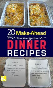 20 Make-Forward Freezer Dinners for Busy Mothers