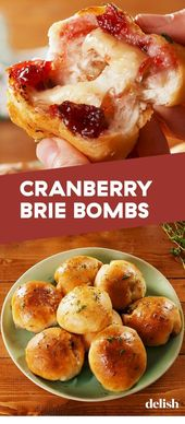 Cranberry Brie Bombs