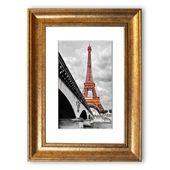 East Urban Home Framed Poster Eiffel Tower over the Seine | Wayfair.de