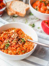 Vegan geröstete Paprika-Nudeln {GF}   – Mmm, Recipes!