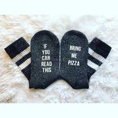 If you can read this socks, personalized gift, gift for men women mom dad kids coworker him her, custom socks, christmas eve box