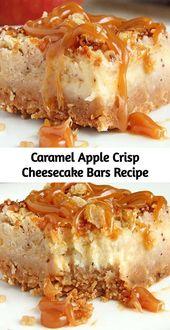 Der ganze Geschmack von Karamell-Apfel-Crisp-Käsekuchen, ohne die …   – cheesecake