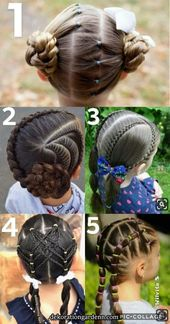 Braid Hairstyle Ideas for Girls Easy and Simple  Makeup Nails and Beauty in 2020 | Flower girl hairstyles, Girly hairstyles, Toddler hair
