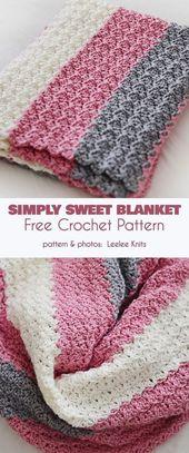 Simply Sweet Baby Blanket Free Crochet Pattern   – crochet