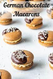 Deutsche Schokoladen Macarons