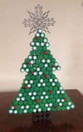 Peint arbre de Noël fait de bouchons de vin recyc…