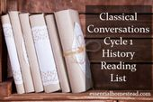 Classical Conversations Cycle 1 Historical past Studying Checklist