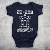 Robocop ED 209 Sie haben 20 Sekunden Zeit, um den Sci-Fi-Actionfilm Inofficial Baby Grow zu erfüllen   – Products