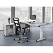 Mobilier + bureau Maja 150x70x75cm gris platine / verre gris Majamaja