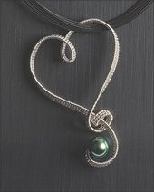Textile techniques in jewelry making. This is a nice heart donation ……