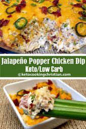 Jalapeño Popper Chicken Dip – Keto und Low Carb Dieser Jalapeño Popper Chicken …