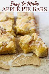 Einfache Apfelkuchenriegel – Einfache Kekse – # Apfelkuchenriegel #Kekse #Einfach # … – Torten