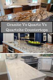 Quartz Vs Quartzite Vs Granite Kitchen Countertops Granite