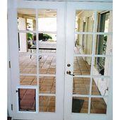 Hale Pet Door Custom Dimension French Doors With Dog Door French Doors Interior Glass French Doors