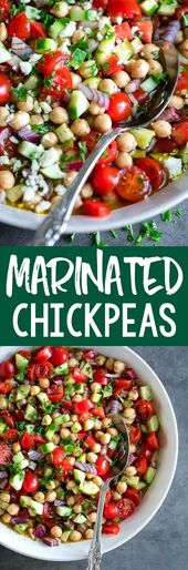 Marinated Chickpeas with Tomatoes and Cucumber – Healthy Recipes