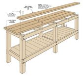 A basic, stable workbench is a must for every shop. Building this bench won't break the bank, either. #WoodworkGarage