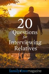 20 Household Historical past Interview Questions