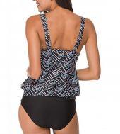 Womens Stripe Line Up Tankini Top mit Badehose Zweiteilige Badebekleidung Badeanzug – Lc41990-6 – CZ12GN3ZYZF Größe Medium