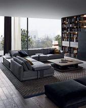 Moderne Wohnzimmer Dekoration Ideen – Farbe, Möbe…