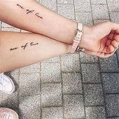 65 Epic Tattoo Designs For Women And Their Best Friends – Page 29 of 65 – #Bestfriendtattoos #Fatherdaughtertattoos #Friendshiptattoos #Matchi