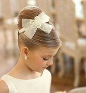 festive hairstyles girl communion updo bun bun headdress …