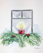 Pintura de la tarjeta de navidad   – Weihnachtskarten