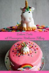 Pastel de unicornio con relleno de frambuesa y mascarpone   – kommunion