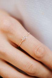 Aufregender Ring aus weißem Diamant