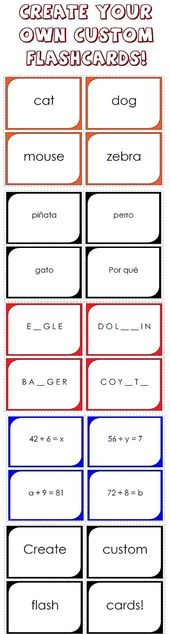 Make Your Own Printable Flashcards Flashcards Sight Word Flashcards Printable Flash Cards