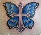 Extraordinary Cross Tattoos Butterfly Tattoo Design – Butterfly Cross Tattoos – Butterfly Tattoos