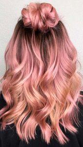 """27 Ideen für Roségold-Haarfarben, bei denen Sie """"Wow!"""" Sagen, Roségold-Haarfarbe …   – Rose Gold Hair Color"""
