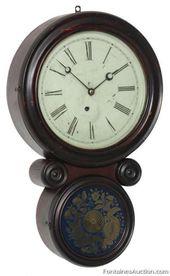 Ingraham Ionic Hanging Wall Clock Lot 149 Estimate 300 500 Clock Wall Clock Antique Clocks