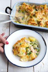 Kartoffel-Brokkoli-Auflauf mit Lachs – Kochrezepte