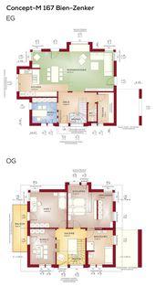 Grundriss Satteldach Architektur moderne Treppe mit Galerie – 5 Zimmer, Erdgeschoss …   – anbau