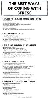 Leer omgaan met stress en verminder deze met deze handige lijst, ze zijn eenvoudig …