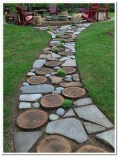 44 magical side yard and backyard gravel garden design ideas 4