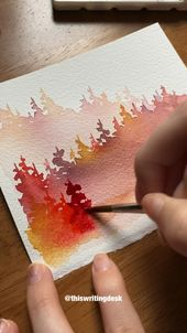Misty forest watercolor kit