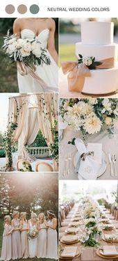 2019 Trending – 40 elegante Hochzeitsideen in neutralen Farben