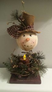 Simple and Low-cost DIY Christmas Decorations on your House – Mattress Spring Snowmen